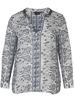 Bluse med paisley-print