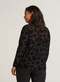 ELUNA, L/S, FLOCK TOP